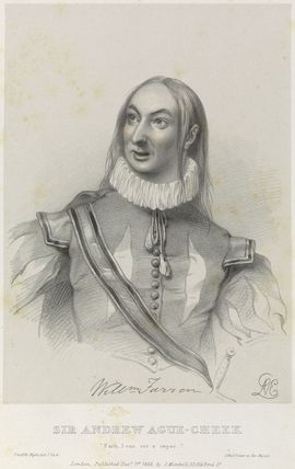 William Farren as Sir Andrew Ague-Cheek in 'Twelfth Night'