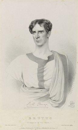 Charles Mayne Young as Brutus in 'Julius Caesar'