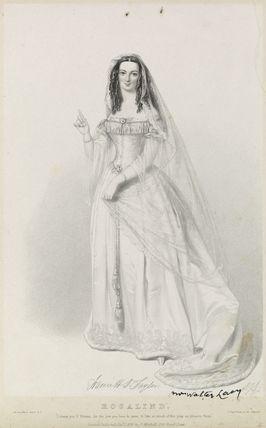 Harriett Deborah Lacy (née Taylor) as Rosalind in 'As You Like It'