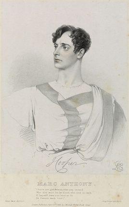 Hooper as Marc Anthony in 'Julius Caesar'