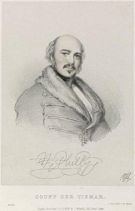 Henry Phillips as Count der Tiemar in 'Amilie'