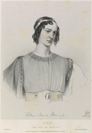 William Charles Macready as Ion