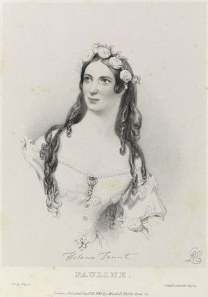 Helen Faucit (Helena (née Faucit Saville), Lady Martin) as Pauline in 'Lady of Lyons'