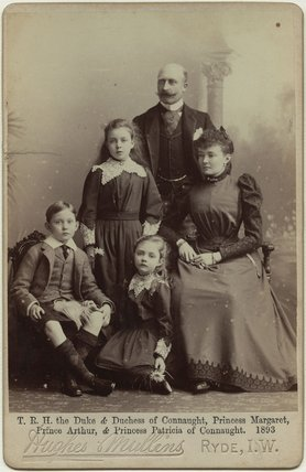 The Duke and Duchess of Connaught with their children