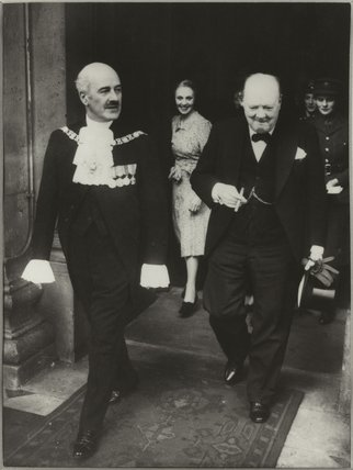 Sir Samuel George Joseph, 1st Bt; Winston Churchill