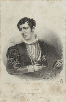 Charles Kemble as Hamlet