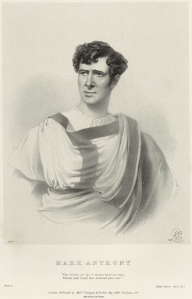 Charles Kemble as Mark Anthony in 'Julius Caesar'