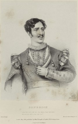 Charles Kemble as Benedick in 'Much Ado about Nothing'