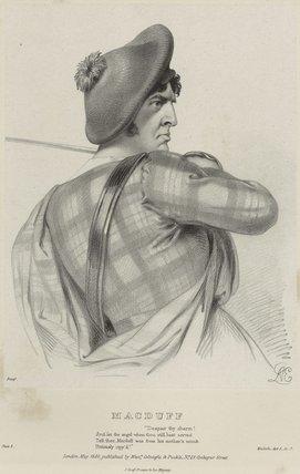 Charles Kemble as Macduff in 'Macbeth'