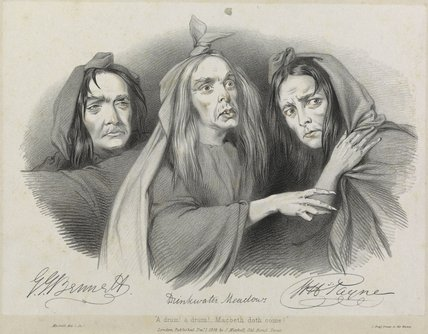 Drinkwater Meadows; John Howard Payne; George John Bennett as the witches in 'Macbeth'