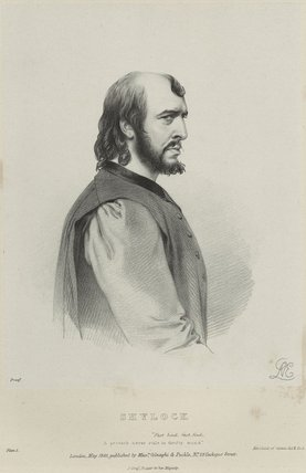 Charles Kemble as Shylock in 'Merchant of Venice'