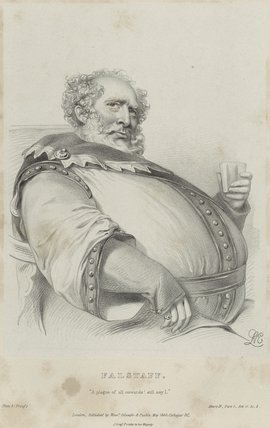 Charles Kemble as Falstaff in 'Henry IV'