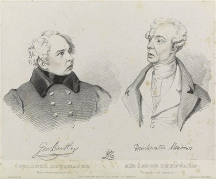 George Bartley as Colonel Detonater and Drinkwater Meadows as Sir Jacob Lukewarm