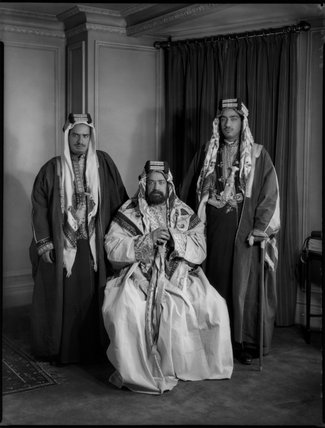 Sir Hamad Bin Isa Al-Khalifa, Sheikh of Bahrain with two others