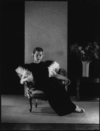 Model for 'Baroque Fashions'