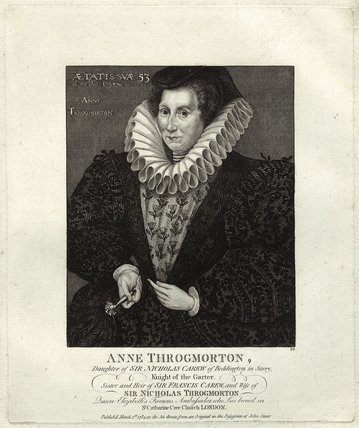 Anne Throckmorton (née Carew), Lady Throckmorton