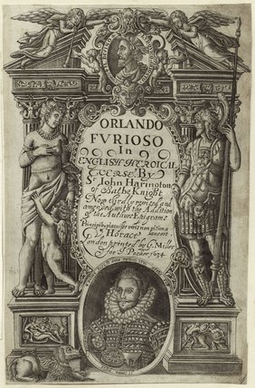 Sir John Harington in the title page to his translation of Ariosto's 'Orlando Furioso'