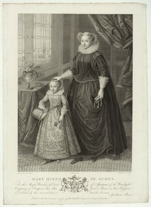 Unknown child called King James I of England and VI of Scotland and an unknown woman called Mary, Queen of Scots