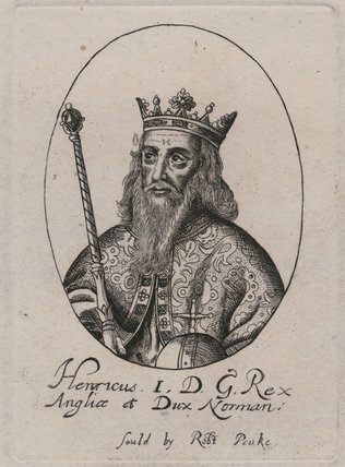 Fictitious portrait of King Henry I
