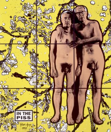Gilbert & George ('IN THE PISS')