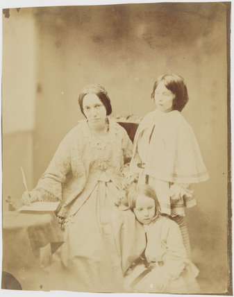 Julia Margaret Cameron with her two children, Henry Herschel Hay and Charlie Hay