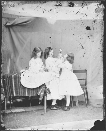 'Open your mouth, and shut your eyes' (Edith Mary Liddell; Ina Liddell; Alice Liddell)