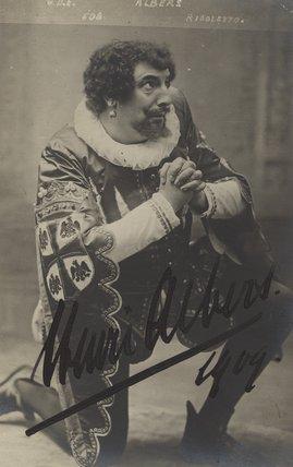 Henri Albers as 'Rigoletto'