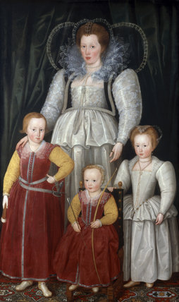 Anne, Lady Pope with her children