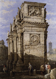 Arch of Constantine, Rome, by Samuel Prout