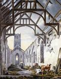 Dunwich church, by Michael Angelo Rooker