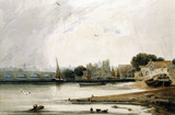 Lambeth Palace and Westminster Bridge, by F.L.T. Francia. London, England, 19th century
