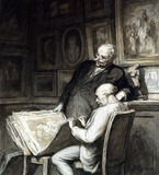 The Print Collectors, by Honore Daumier