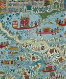 Textile, detail. India, 19th century