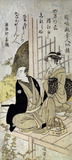 The Kyoka Poet Narutaki-no-Otondo, by Kitao Masanobu