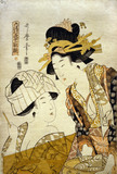 Washing Clothes, by Kitagawa Utamaro II
