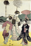 Daimijo's Travelling Procession, by Utagawa Toyokuni
