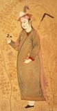 Dervish holding a leaf, by Afzal-al-Mussairi