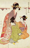 Courtesan, Attendant and Child, by Kitagawa Utamaro