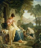Scottish Peasant Girl Embroidering Muslin, by Joshua Cristall