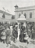 The Courtyard of The Indian Palace from The Colonial & Indian Exhibition, from The Illustrated London News