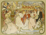 Poster of the comedy Amants, by Alphonse Mucha