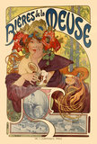 Poster of Bieres de la Meuse, by Alphonse Mucha