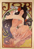 Poster of Job Cigarette Papers, by Alphonse Mucha