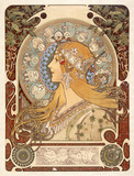 Design for a poster, by Alphonse Mucha
