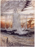 The Shipwrecked Man of The Sea, by Arthur Rackham