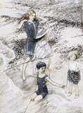 On The Beach, by Arthur Rackham