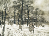 An Afternoon When The Gardens were White With Snow, by Arthur Rackham