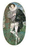 A Young Man Leaning Against a Tree Amongst Roses, by Nicholas Hilliard