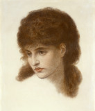 Portrait of Mary Zambaco, by Dante Gabriel Rossetti