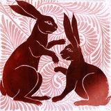 Tile with Rabbit design, by William de Morgan